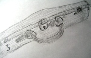 Violin Case Sketch by Tommia Wright