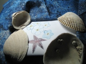 Shells and Forget-me-nots by Tommia Wright