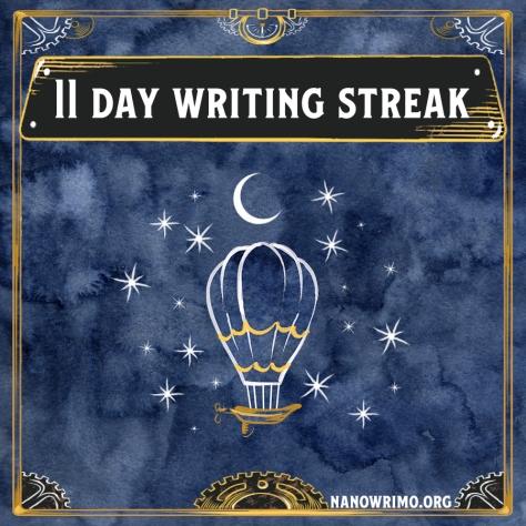 Day 11 writing badge